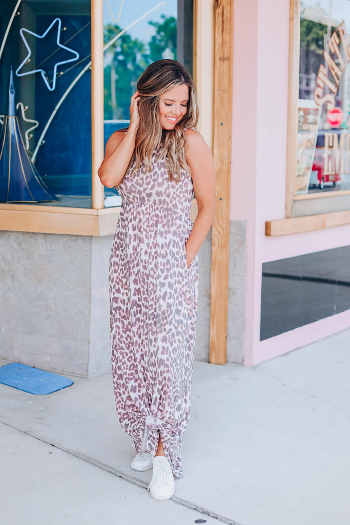 Leisure Time Leopard Maxi Dress