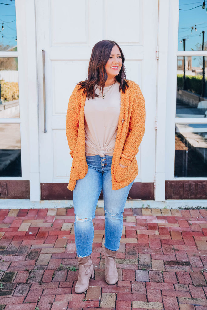 Soft-Hearted Cardigan - Mustard
