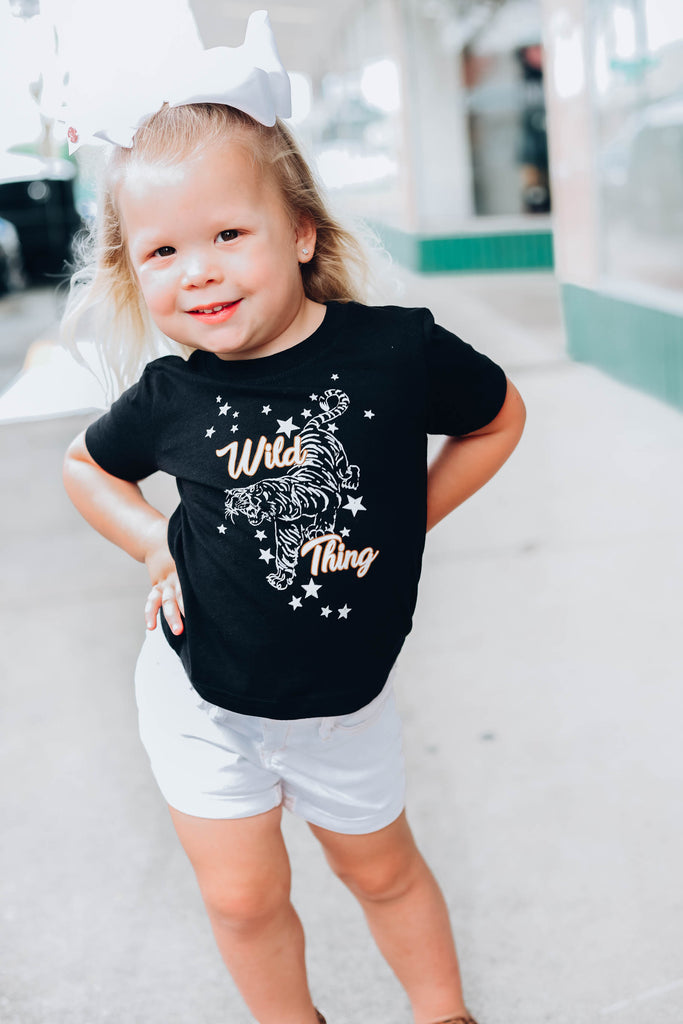 Wild Thing Kids Graphic Tee - Black