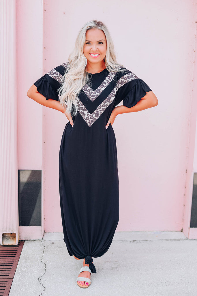 Just My Style Maxi Dress - Black