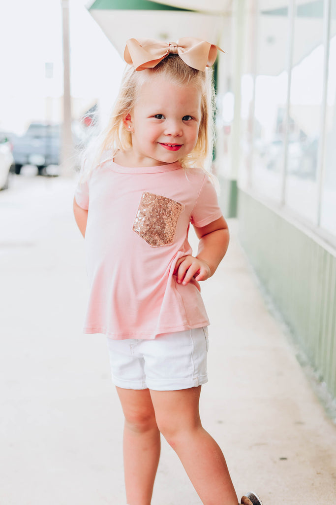 Little Miss Thing Kids Top - Dusty Pink