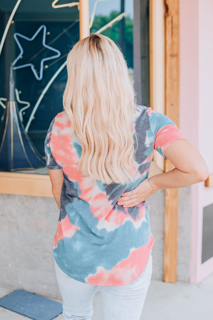 Stormy Sunset Tie Dye Top