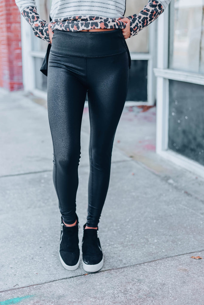 Stop & Stare Faux Leather Leggings