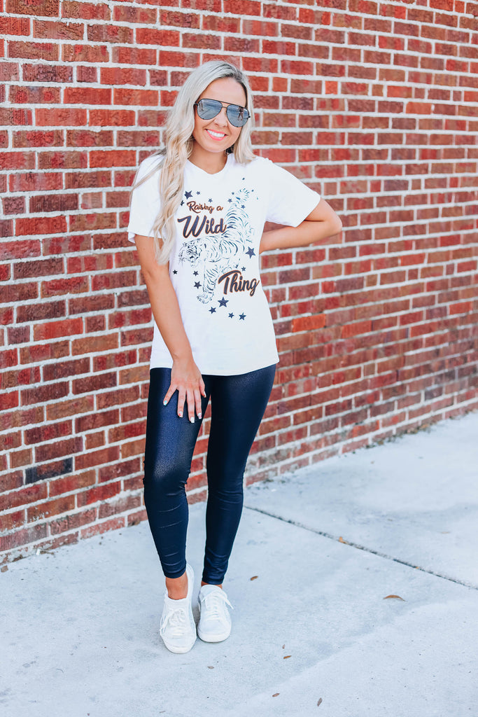 Raising A Wild Thing Graphic Tee - White