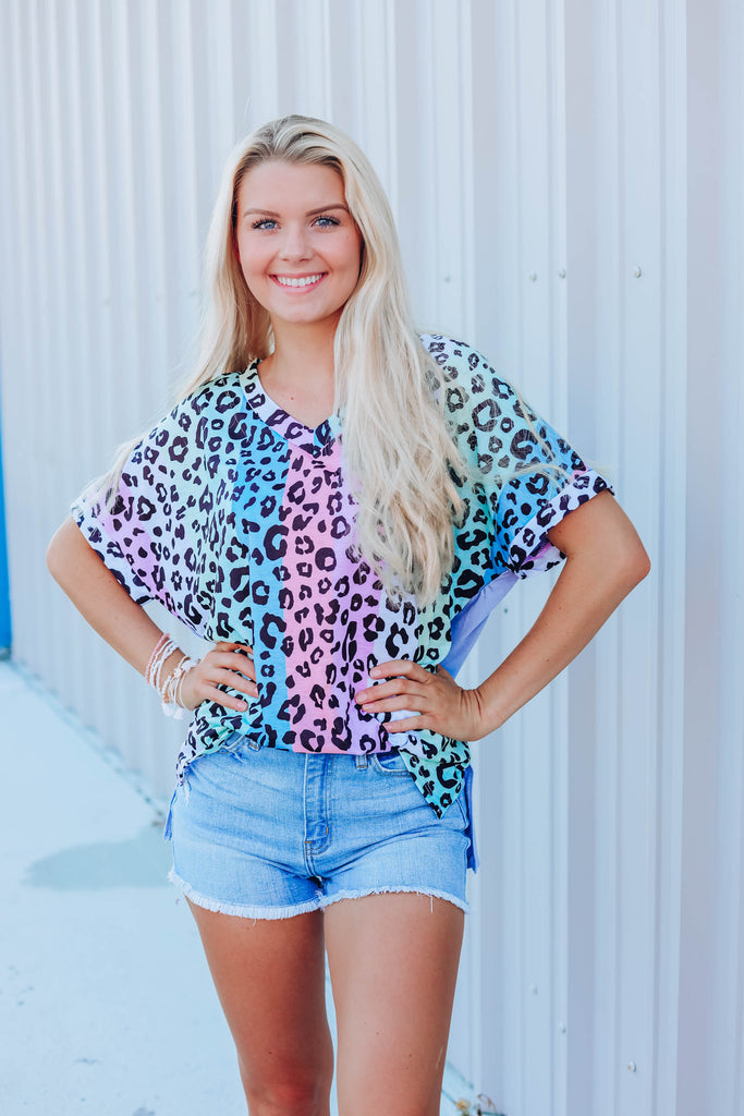 Striking Leopard Top
