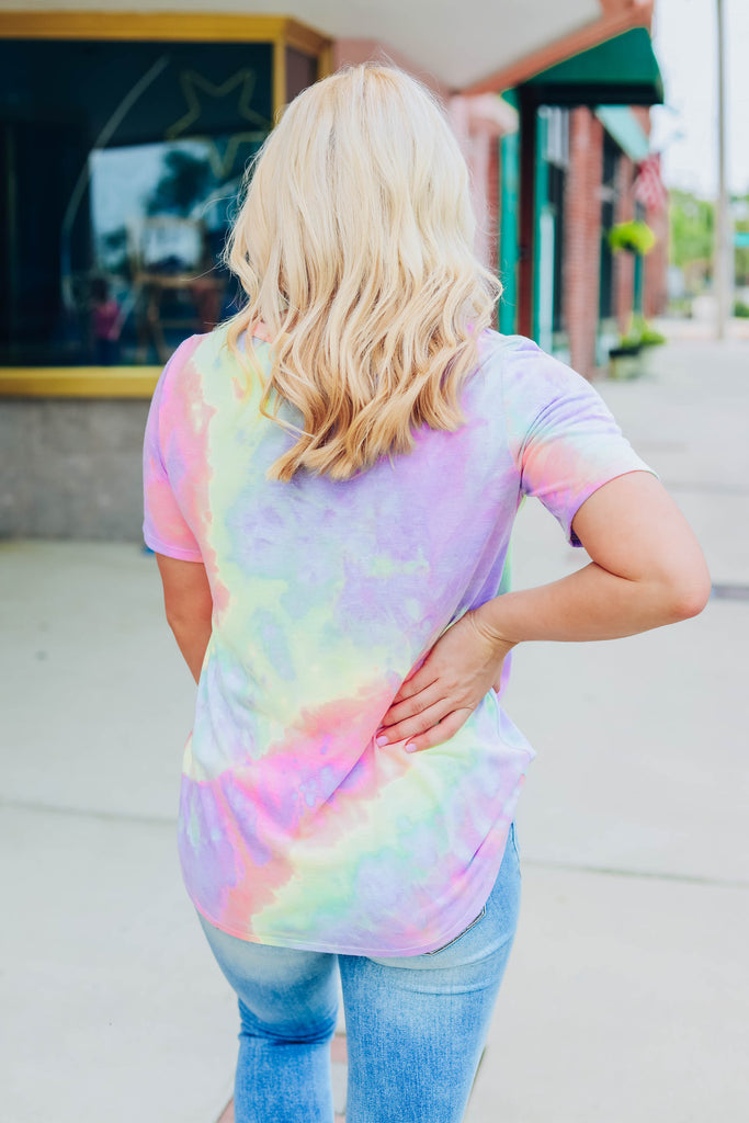 Sunshine In Her Eyes Tie Dye Top - Purple