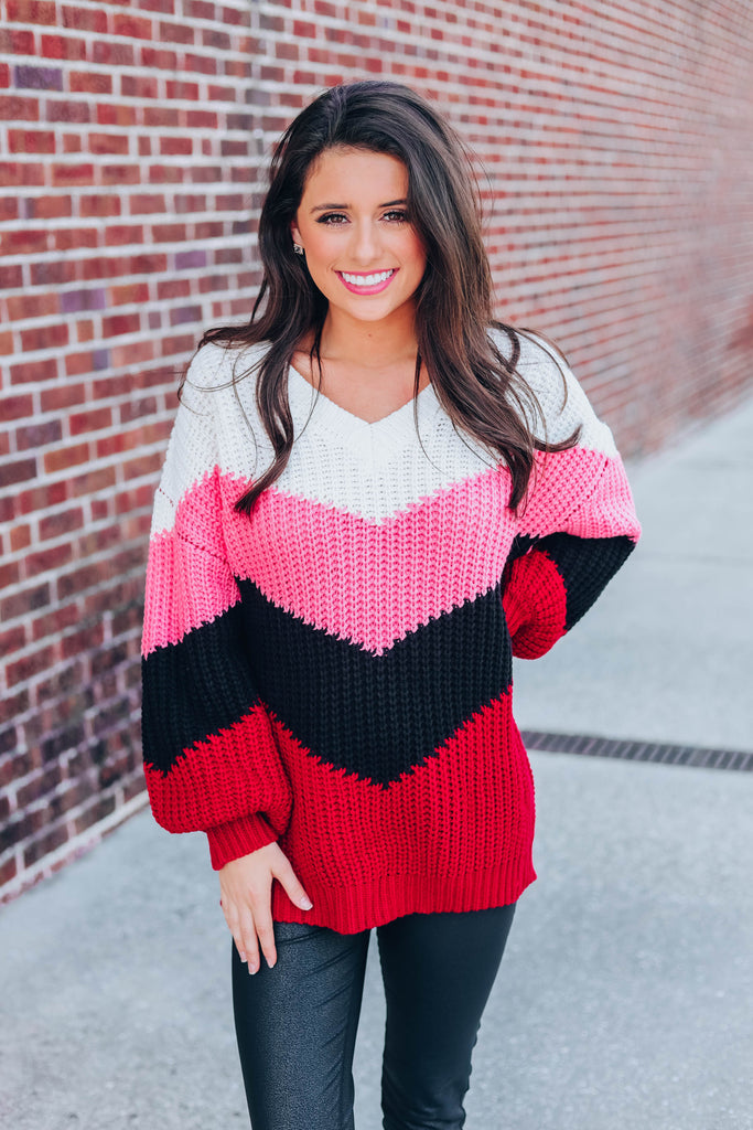 Close To You Sweater - Burgundy