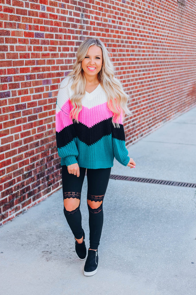 Close To You Sweater - Teal