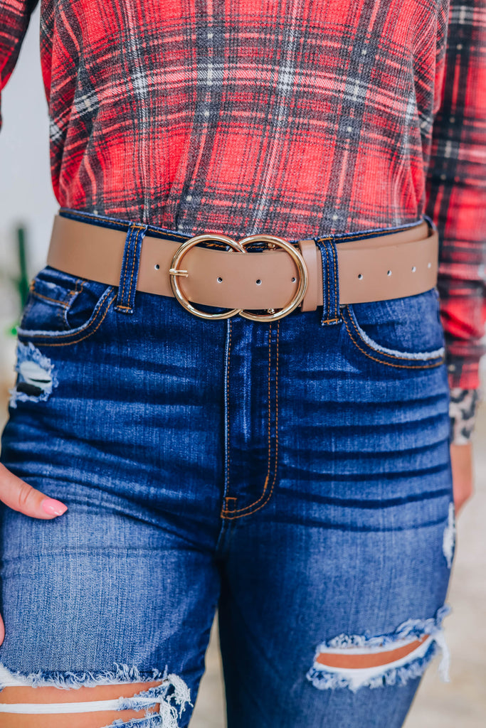 No Stopping Me Belt - Taupe