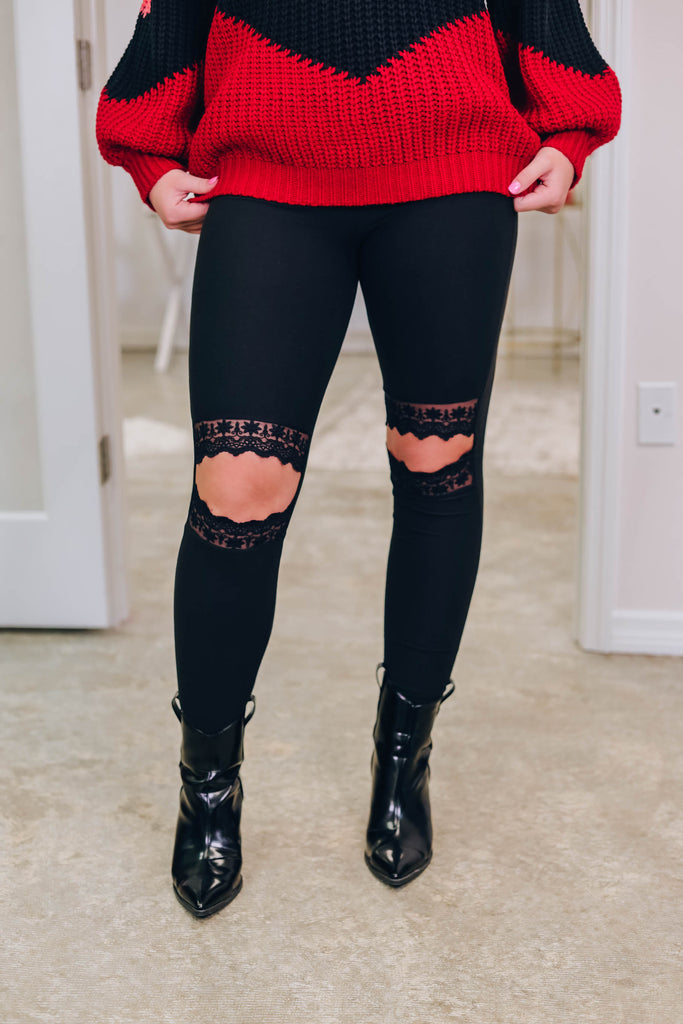 Girl Around Town Leggings - Black
