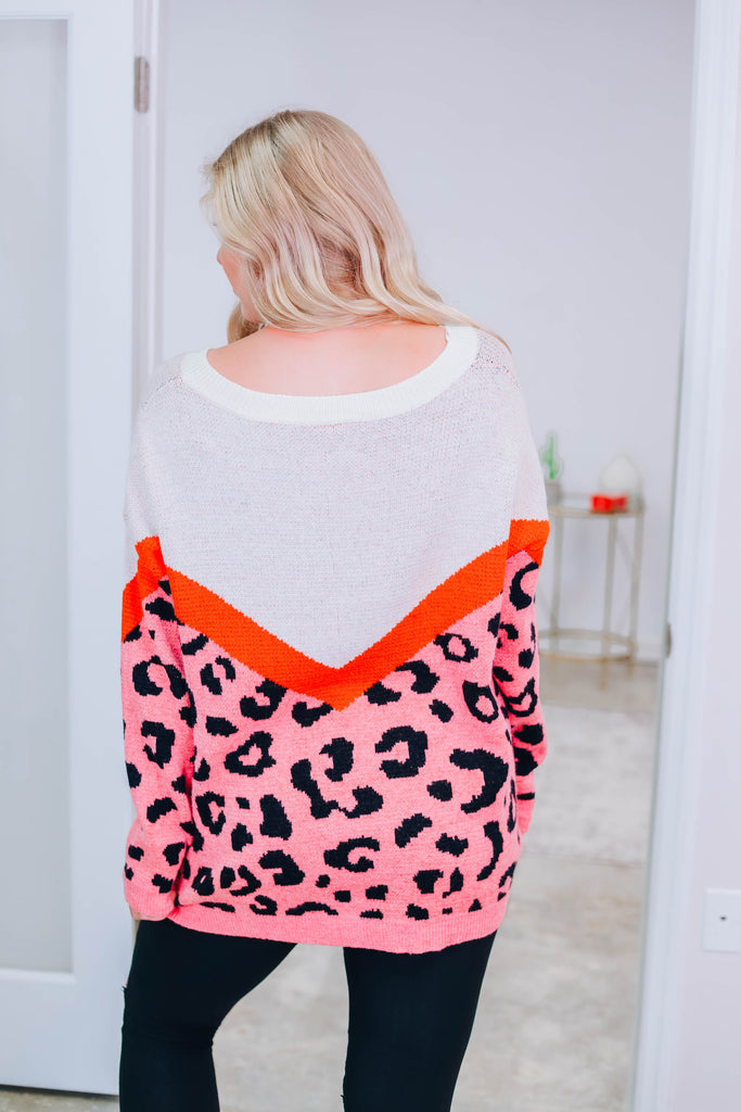 Just Peachy Leopard Sweater