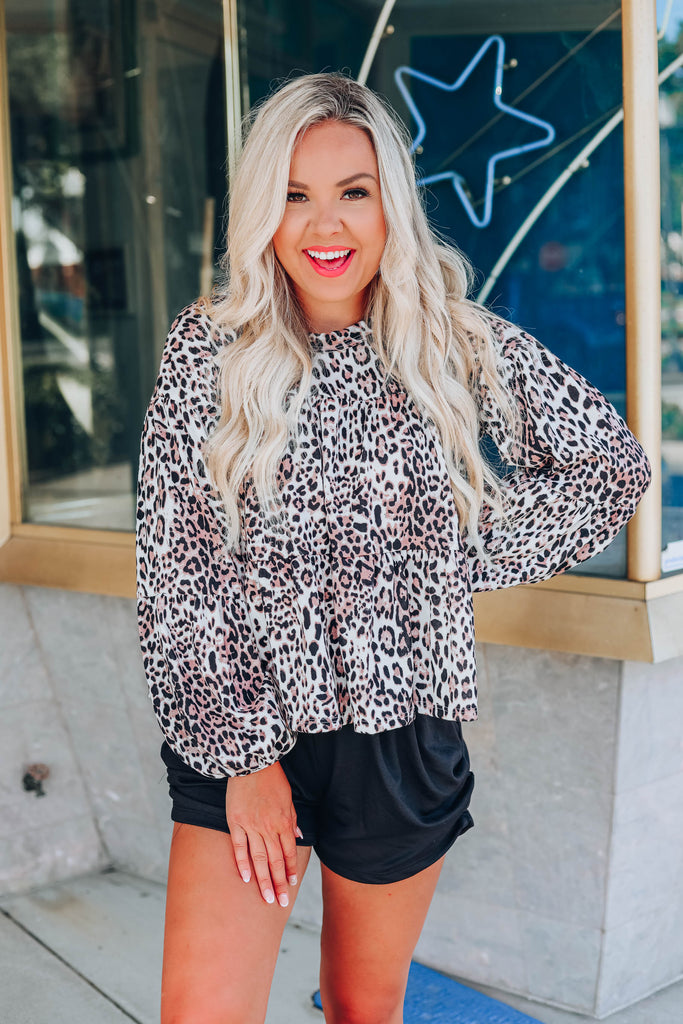 Lovely In Leopard Baby Doll Top