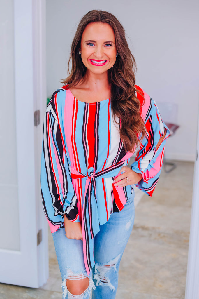 Search For You Striped Top