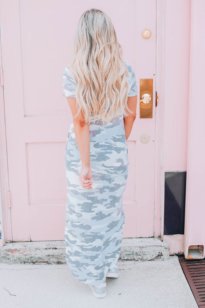 Break Free Camo Maxi Dress