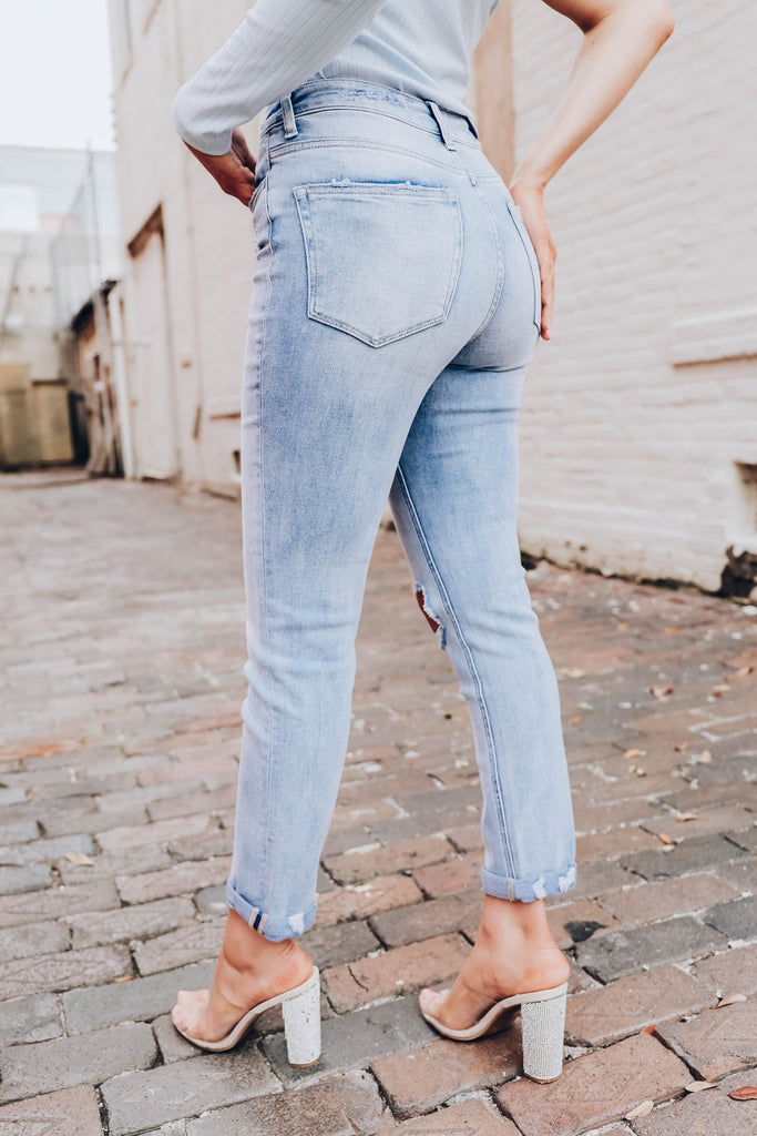 Sal High Waisted Slim Fit Jean