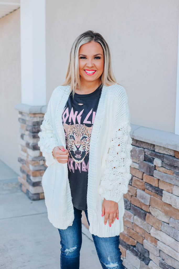 Glam Me Up Cardigan - Ivory