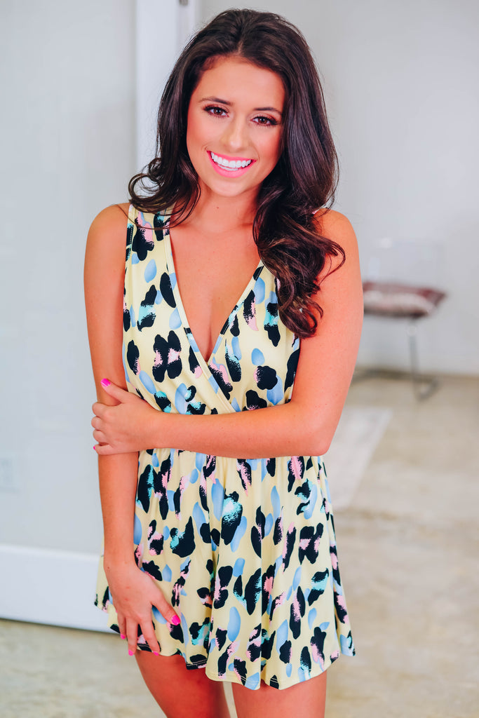 In Your Head Leopard Romper