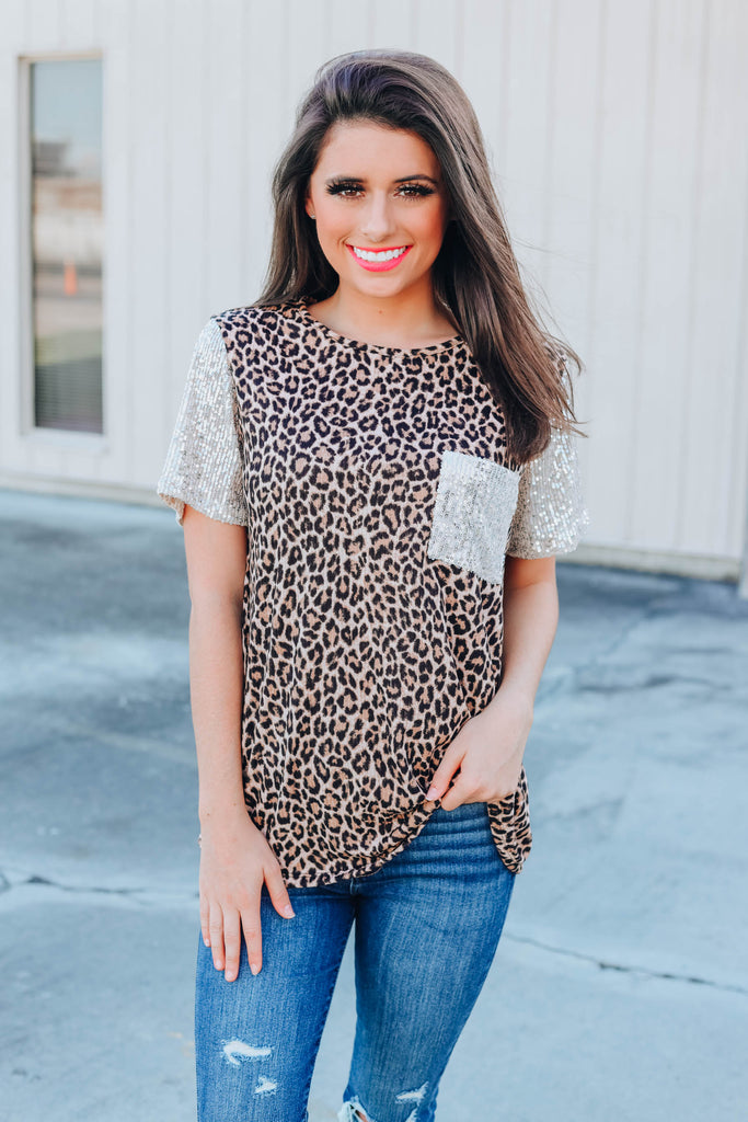 Speak Now Leopard Top