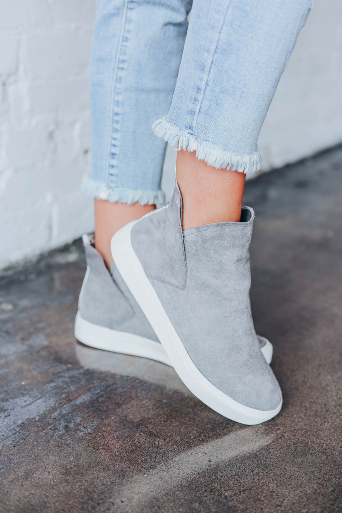 Reesie Slip on Sneakers by Very G - Grey