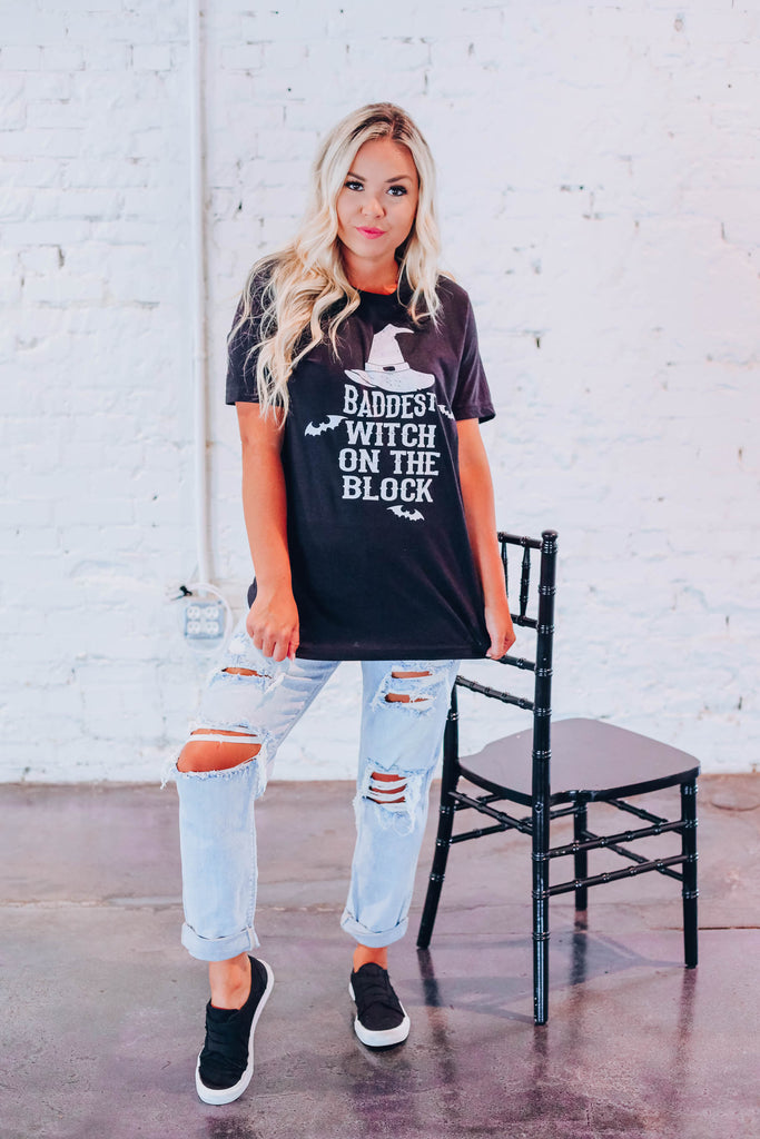 Baddest Witch On The..... Graphic Tee S-3X