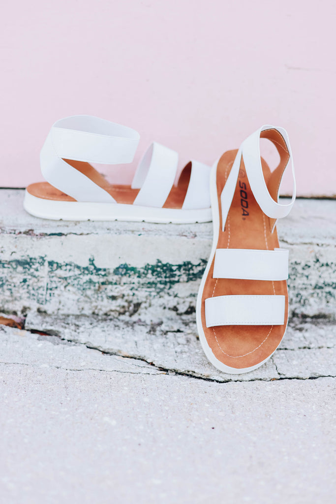 Keller Sandals - White - Slightly Imperfect