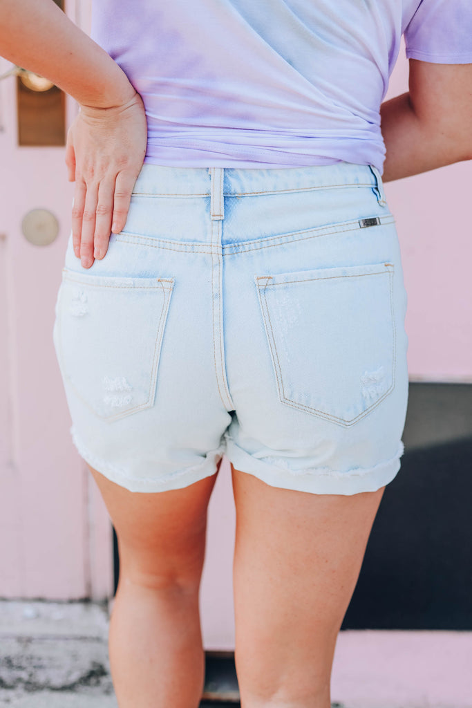 Coco Denim Shorts - Light Wash