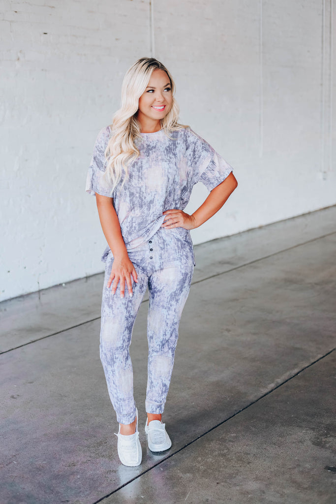 Adele Abstract Lounge Set - Jogger
