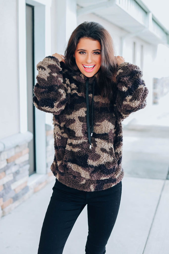 Keep Me Cozy Sherpa - Camo