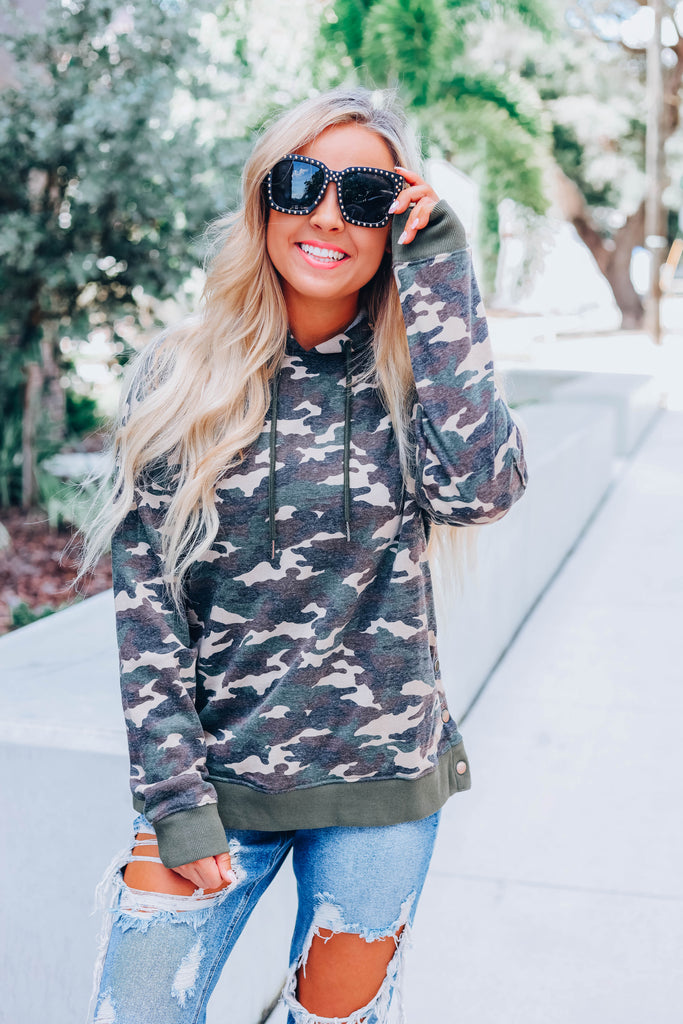 Wait On It Camo Hoodie
