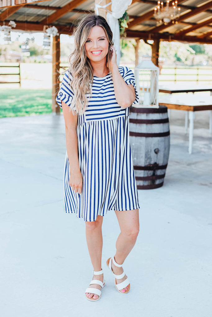 Meant To Be Baby Doll Stripe Dress