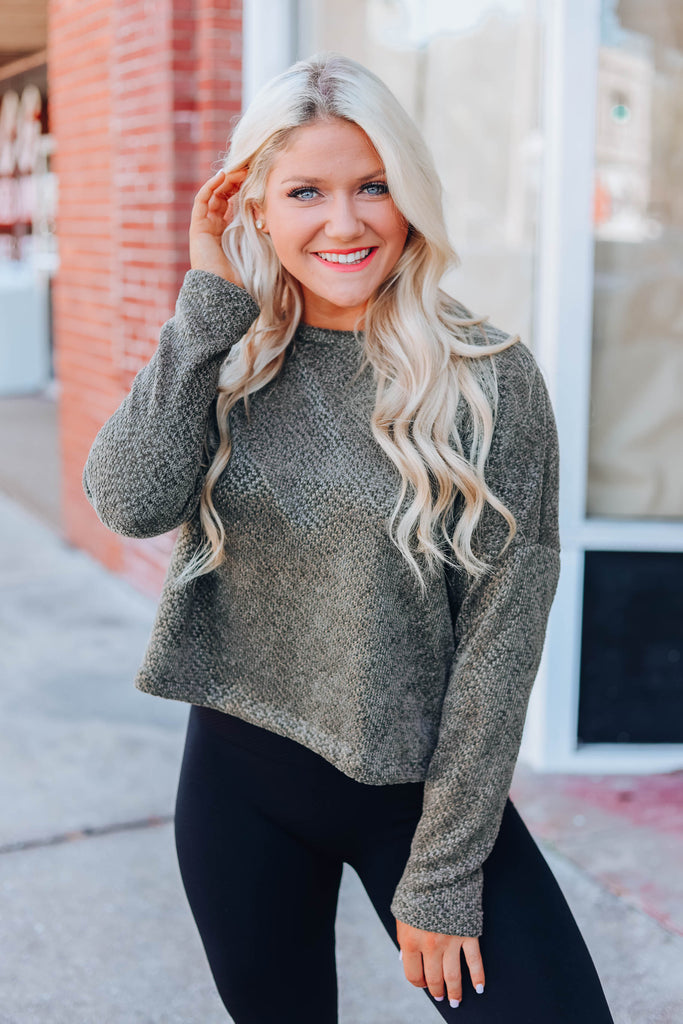 Promise You Chenille Sweater - Olive