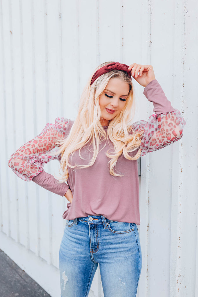 Chic & Sheer Top - Mauve