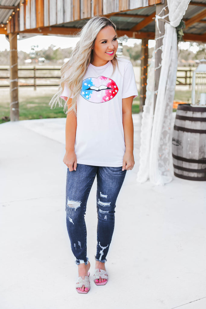 Star Lippy Graphic Tee - Pink