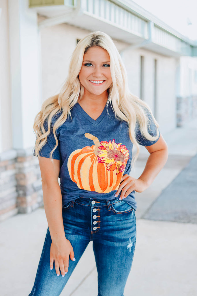 Pumpkin Sunflower Tee