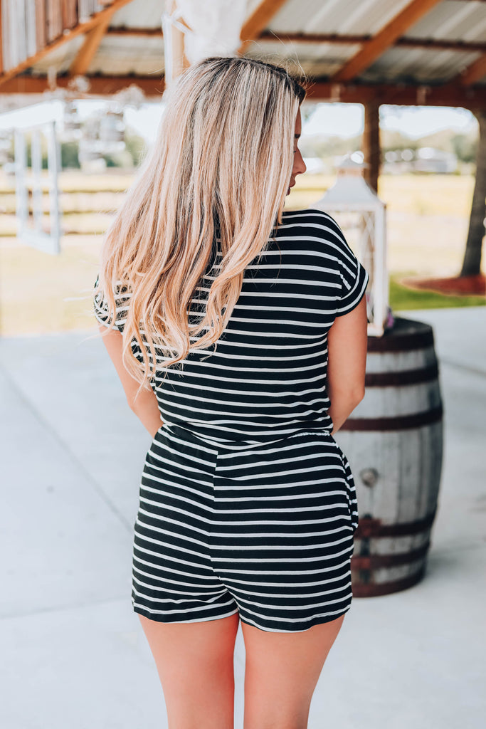 Zany Striped Romper