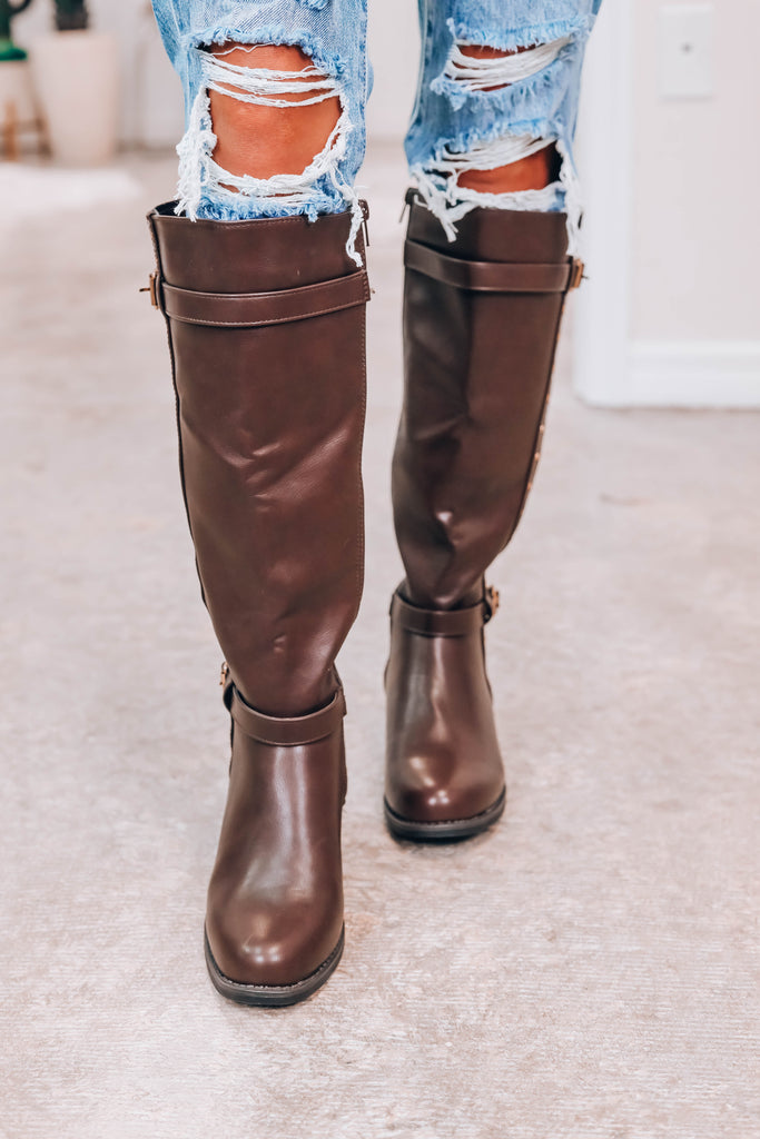 Paige Riding Boots - Brown