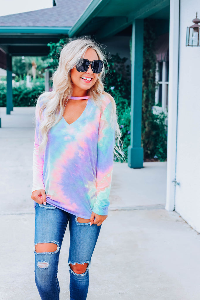 Fun And Games Tie Dye Top