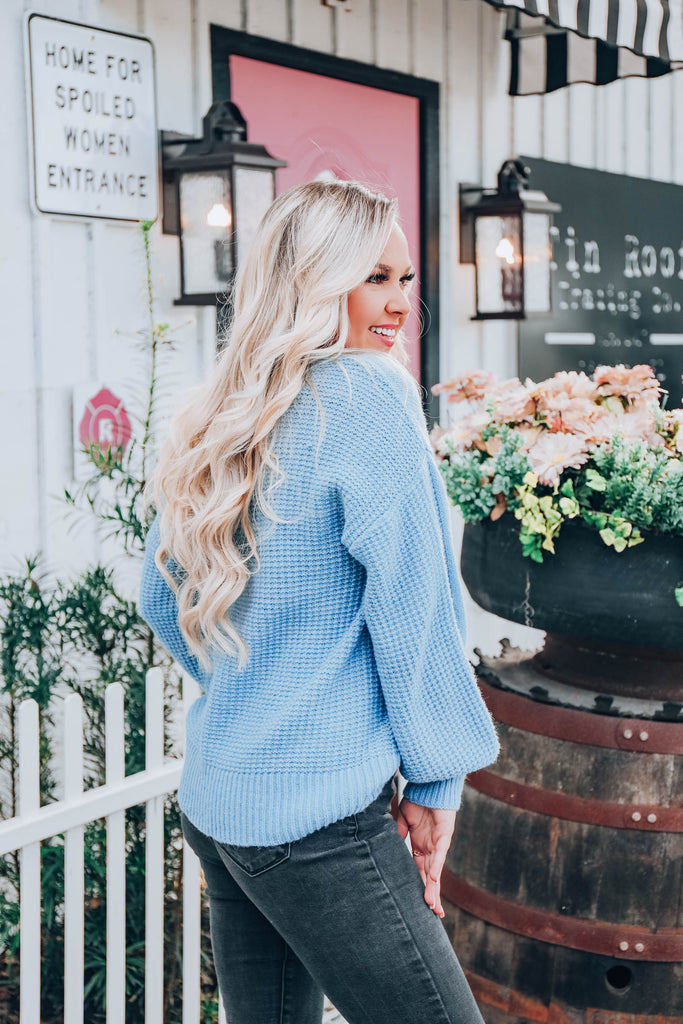 Time For Comfort Sweater - Blue