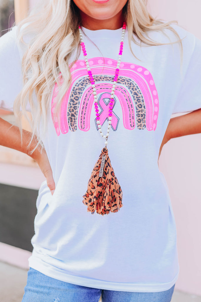 Blessed Leopard Necklace - Pink