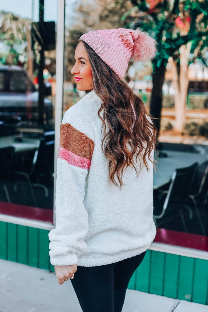 Cozy Chevron Sherpa