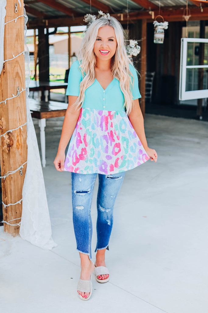 Pretty In Pastel Baby Doll Top