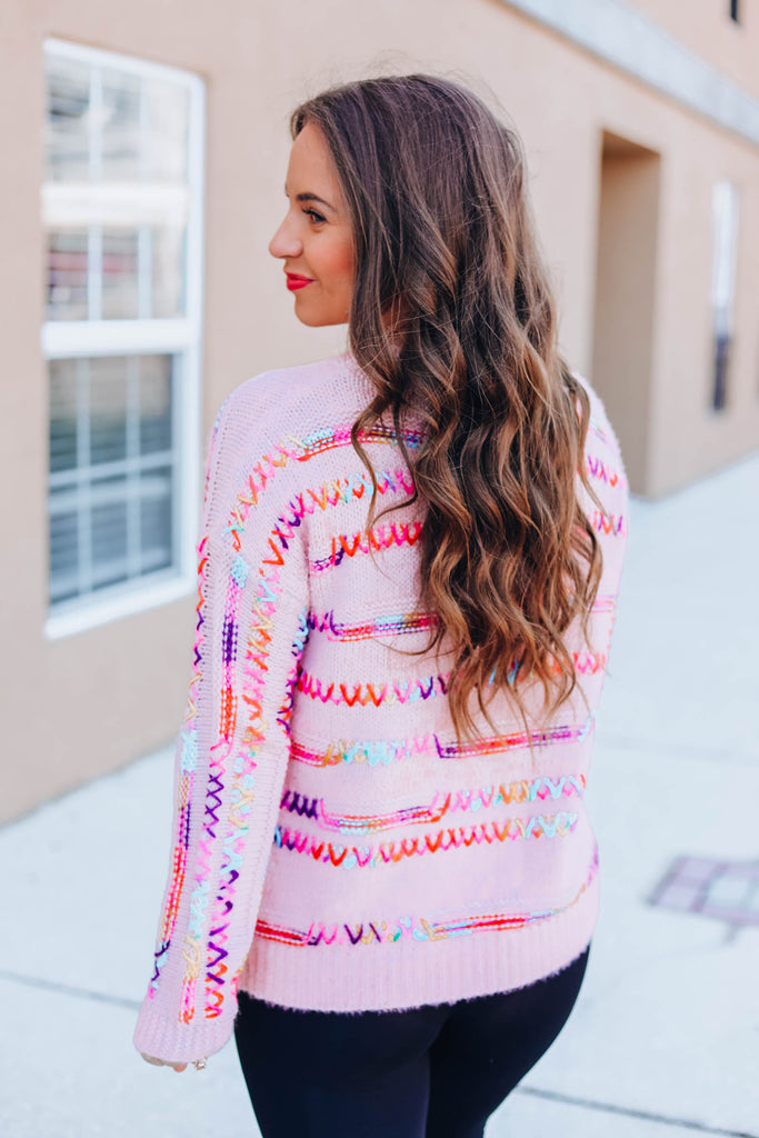 Here To Stay Sweater - Dusty Pink