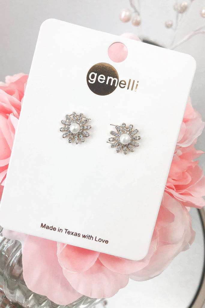 Sparkling Daisy Earrings