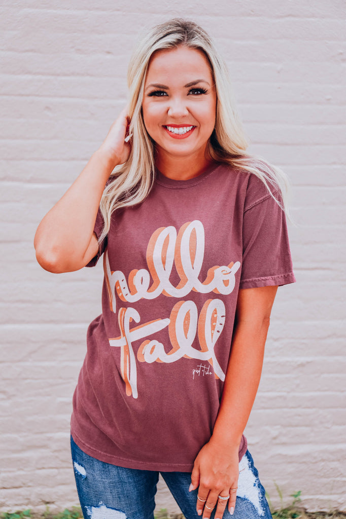 Hello Fall  Graphic Tee - S-3X