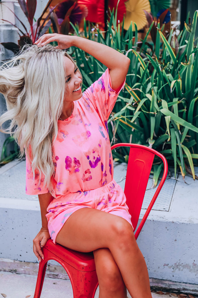 Sweetest Dreams Set Short Sleeve - Coral