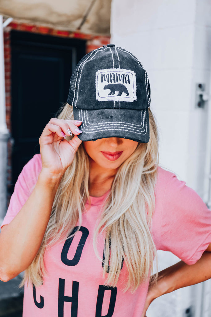 Mama Bear Cap - Black