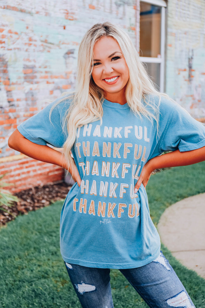 Thankful For.... Graphic Tee - S-3X