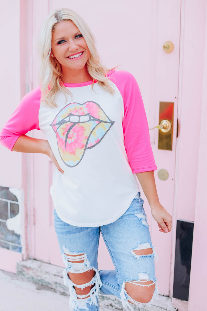 Sun's Out Tongue's Out Graphic Tee - Ivory - Slightly Imperfect