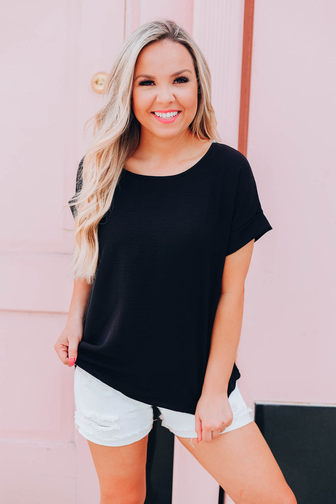 Make This Moment Last Forever Top - Black