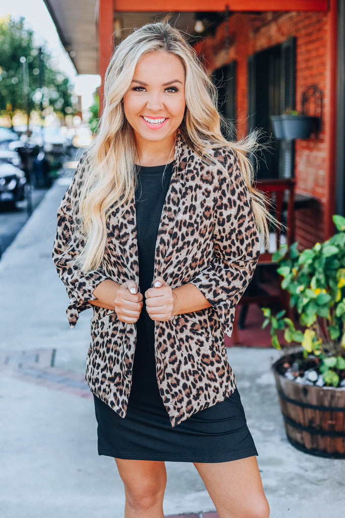 Around Town Blazer - Leopard